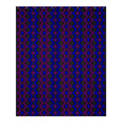 Split Diamond Blue Purple Woven Fabric Shower Curtain 60  X 72  (medium)  by AnjaniArt