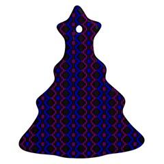 Split Diamond Blue Purple Woven Fabric Ornament (christmas Tree)  by AnjaniArt