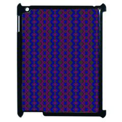 Split Diamond Blue Purple Woven Fabric Apple Ipad 2 Case (black) by AnjaniArt