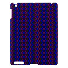 Split Diamond Blue Purple Woven Fabric Apple Ipad 3/4 Hardshell Case by AnjaniArt