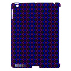 Split Diamond Blue Purple Woven Fabric Apple Ipad 3/4 Hardshell Case (compatible With Smart Cover) by AnjaniArt