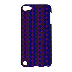 Split Diamond Blue Purple Woven Fabric Apple Ipod Touch 5 Hardshell Case by AnjaniArt