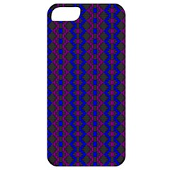 Split Diamond Blue Purple Woven Fabric Apple Iphone 5 Classic Hardshell Case by AnjaniArt
