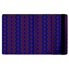 Split Diamond Blue Purple Woven Fabric Apple Ipad 3/4 Flip Case by AnjaniArt