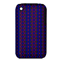 Split Diamond Blue Purple Woven Fabric Iphone 3s/3gs by AnjaniArt