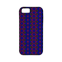 Split Diamond Blue Purple Woven Fabric Apple Iphone 5 Classic Hardshell Case (pc+silicone) by AnjaniArt