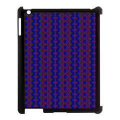 Split Diamond Blue Purple Woven Fabric Apple Ipad 3/4 Case (black) by AnjaniArt