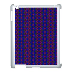Split Diamond Blue Purple Woven Fabric Apple Ipad 3/4 Case (white) by AnjaniArt