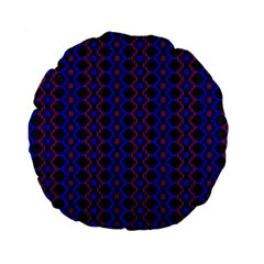Split Diamond Blue Purple Woven Fabric Standard 15  Premium Round Cushions by AnjaniArt