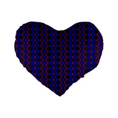 Split Diamond Blue Purple Woven Fabric Standard 16  Premium Heart Shape Cushions by AnjaniArt