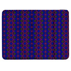 Split Diamond Blue Purple Woven Fabric Samsung Galaxy Tab 7  P1000 Flip Case by AnjaniArt