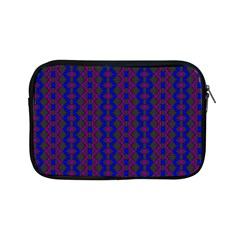Split Diamond Blue Purple Woven Fabric Apple Ipad Mini Zipper Cases by AnjaniArt
