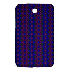 Split Diamond Blue Purple Woven Fabric Samsung Galaxy Tab 3 (7 ) P3200 Hardshell Case  by AnjaniArt