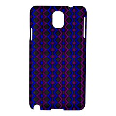 Split Diamond Blue Purple Woven Fabric Samsung Galaxy Note 3 N9005 Hardshell Case by AnjaniArt