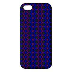 Split Diamond Blue Purple Woven Fabric Iphone 5s/ Se Premium Hardshell Case by AnjaniArt