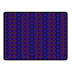 Split Diamond Blue Purple Woven Fabric Double Sided Fleece Blanket (small)  by AnjaniArt