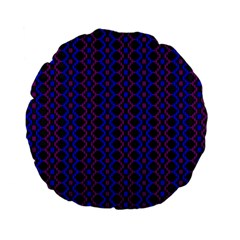 Split Diamond Blue Purple Woven Fabric Standard 15  Premium Flano Round Cushions by AnjaniArt