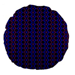 Split Diamond Blue Purple Woven Fabric Large 18  Premium Flano Round Cushions by AnjaniArt