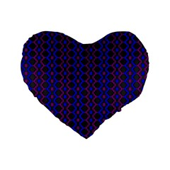 Split Diamond Blue Purple Woven Fabric Standard 16  Premium Flano Heart Shape Cushions by AnjaniArt