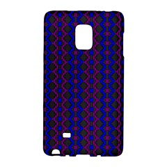 Split Diamond Blue Purple Woven Fabric Galaxy Note Edge by AnjaniArt