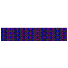 Split Diamond Blue Purple Woven Fabric Flano Scarf (small) by AnjaniArt