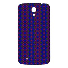 Split Diamond Blue Purple Woven Fabric Samsung Galaxy Mega I9200 Hardshell Back Case by AnjaniArt