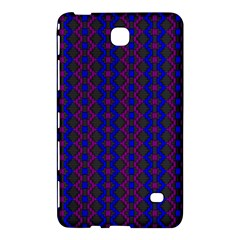 Split Diamond Blue Purple Woven Fabric Samsung Galaxy Tab 4 (7 ) Hardshell Case  by AnjaniArt
