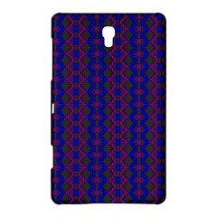 Split Diamond Blue Purple Woven Fabric Samsung Galaxy Tab S (8 4 ) Hardshell Case  by AnjaniArt