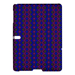 Split Diamond Blue Purple Woven Fabric Samsung Galaxy Tab S (10 5 ) Hardshell Case  by AnjaniArt