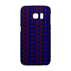 Split Diamond Blue Purple Woven Fabric Galaxy S6 Edge by AnjaniArt