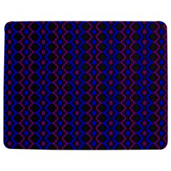 Split Diamond Blue Purple Woven Fabric Jigsaw Puzzle Photo Stand (rectangular) by AnjaniArt