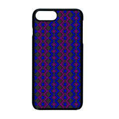 Split Diamond Blue Purple Woven Fabric Apple Iphone 7 Plus Seamless Case (black) by AnjaniArt