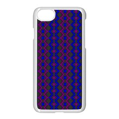 Split Diamond Blue Purple Woven Fabric Apple Iphone 7 Seamless Case (white) by AnjaniArt