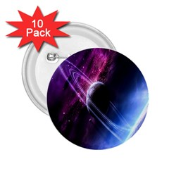 Space Pelanet Saturn Galaxy 2 25  Buttons (10 Pack)  by AnjaniArt