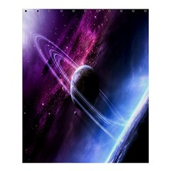 Space Pelanet Saturn Galaxy Shower Curtain 60  X 72  (medium)  by AnjaniArt