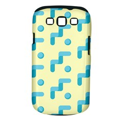 Squiggly Dot Pattern Blue Yellow Circle Samsung Galaxy S Iii Classic Hardshell Case (pc+silicone) by AnjaniArt