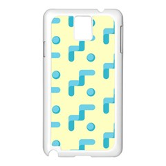 Squiggly Dot Pattern Blue Yellow Circle Samsung Galaxy Note 3 N9005 Case (white) by AnjaniArt