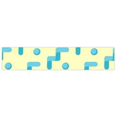 Squiggly Dot Pattern Blue Yellow Circle Flano Scarf (small) by AnjaniArt