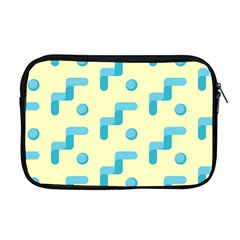Squiggly Dot Pattern Blue Yellow Circle Apple Macbook Pro 17  Zipper Case by AnjaniArt