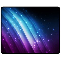 Space Purple Blue Fleece Blanket (medium)  by AnjaniArt