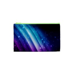 Space Purple Blue Cosmetic Bag (xs) by AnjaniArt