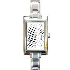 Star Rectangle Italian Charm Watch by AnjaniArt