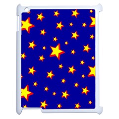 Star Blue Sky Yellow Apple Ipad 2 Case (white) by AnjaniArt