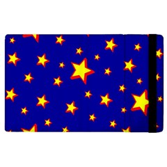 Star Blue Sky Yellow Apple Ipad 2 Flip Case by AnjaniArt