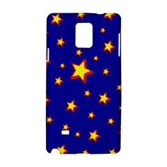 Star Blue Sky Yellow Samsung Galaxy Note 4 Hardshell Case by AnjaniArt