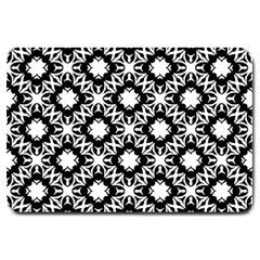 Star Flower Large Doormat  by AnjaniArt