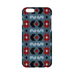 Star Wave Chevron Grey Gray Apple Iphone 6/6s Hardshell Case by AnjaniArt