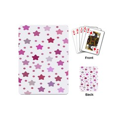 Star Purple Playing Cards (mini)  by AnjaniArt