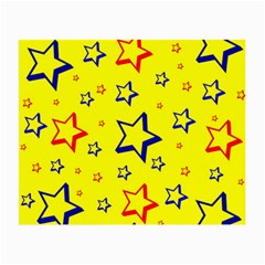 Star Yellow Red Blue Small Glasses Cloth (2 Side) by AnjaniArt