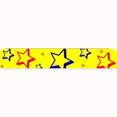 Star Yellow Red Blue Small Bar Mats by AnjaniArt
